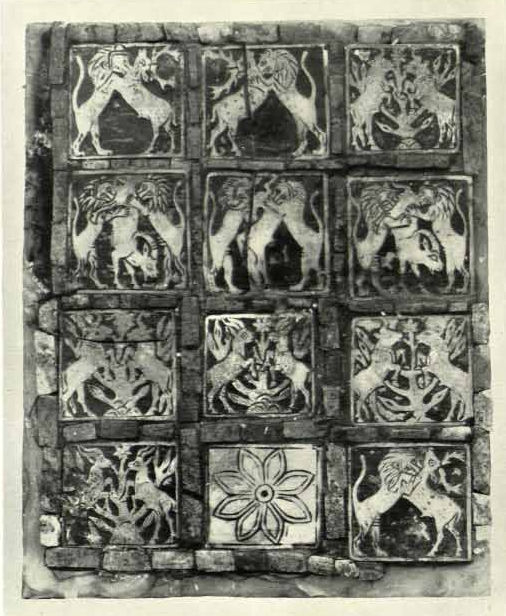 12 Squares Board with Animals and Rosette (Ur Artifact U11162), kept in the National Museum of Iraq (IM 8204 - IM 8212)