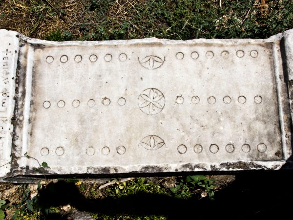Duodecim Scripta in the Agora of Aphrodisias, Turkey. 2nd century CE. Photo: William Neuheisel, June 24, 2012.