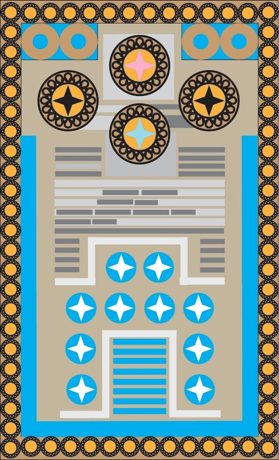 Knossos Game Board with Pink and Blue Cells