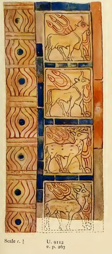 Left Column of the Large Block Fragment of the Gaming Board with Goats (Ur Artifact U9112), kept in the National Museum of Iraq (IM 4177)