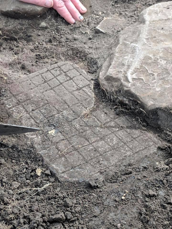 Vindolanda Latrunculi Gaming Board, unearthed on 04-23-2019 at Vindolanda Roman Fort, UK